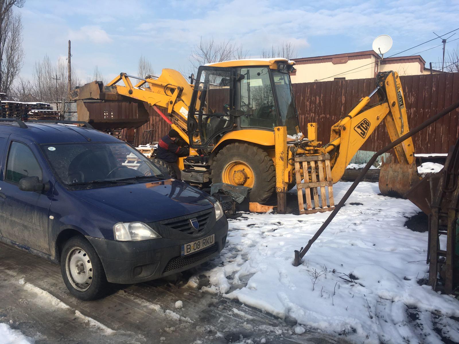 reparatie buldoexcavator JCB 3cx