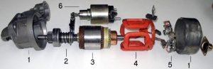 Componente electromotor de buldoexcavator