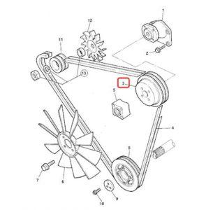 Fulie de ventilator Perkins YK (motor)