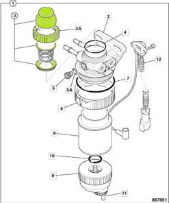 Kit reparatie pompa amorsare JCB 3DX